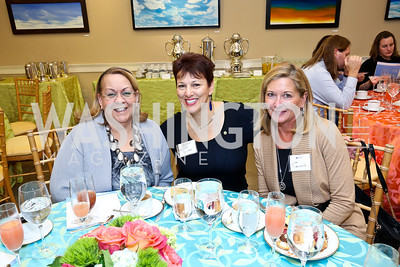 Lydia Thomas, Sharon Ricciardi, Lori Domenech. Photo by Tony Powell. Life With Cancer's 25th Anniversary Brunch. January 26, 2014