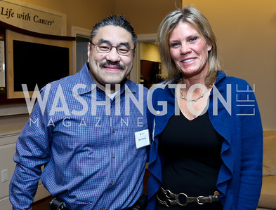 Bob Hisaoka, Lori Peterson. Photo by Tony Powell. Life With Cancer's 25th Anniversary Brunch. January 26, 2014