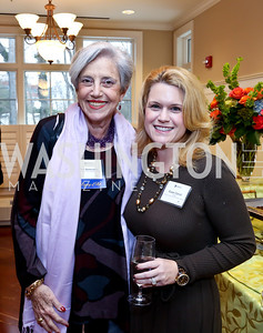 Fern Bekenstein, Susan Carroll. Photo by Tony Powell. Life With Cancer's 25th Anniversary Brunch. January 26, 2014