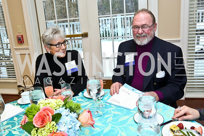 Bonnie Christ, Joe Viar. Photo by Tony Powell. Life With Cancer's 25th Anniversary Brunch. January 26, 2014