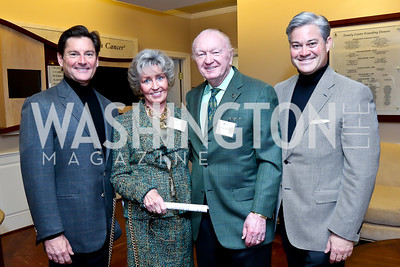 Joe Ruzzo, Marilyn and George Pedersen, Mark Lowham. Photo by Tony Powell. Life With Cancer's 25th Anniversary Brunch. January 26, 2014