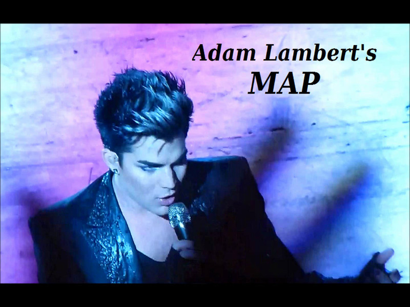 HD Video: Adam Lambert's MAP w/ Screencaps & Photos of Adam ... on elvis presley map, austin mahone map, ronald reagan map, michael jackson map,
