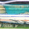 Back: Washington DC<br /> Front:  The Capitol Building<br /> Floater:  airplane <br /> Style: Classic<br /> Color: white<br /> Cost: $6.50<br /> Category: Washington DC