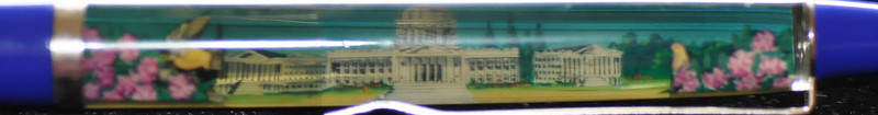 Back: Olympia, Washington State Capitol, The Evergreen State<br /> Front:  State Capitol Building <br /> Floater:  yellow bird<br /> Style: Classic<br /> Color: blue<br /> Cost: $6.00<br /> Category: Washington State
