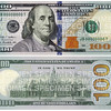 A combination photo shows the front and back of the newly designed $100 bill in these handout pictures obtained on April 24, 2013. The United States will put the new bill into circulation in October, in an aim to thwart counterfeiters with advanced security features, the Federal Reserve said on Wednesday. The changes in design are mostly in anti-counterfeiting features such as a blue three-dimensional security ribbon and alternating images of bells and the number 100 that move and change as the viewing angle is tilted. REUTERS/U.S. Treasury Department/Handout (UNITED STATES - Tags: BUSINESS) ATTENTION EDITORS - FOR EDITORIAL USE ONLY. NOT FOR SALE FOR MARKETING OR ADVERTISING CAMPAIGNS. THIS IMAGE HAS BEEN SUPPLIED BY A THIRD PARTY. IT IS DISTRIBUTED, EXACTLY AS RECEIVED BY REUTERS, AS A SERVICE TO CLIENTS