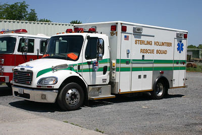 Sterling Rescue operates all monster medic's, with the exception of one four wheel drive Ford F chassis ambulance.  The monster medics are all Freightliner's.  15-1 is a 2005 Freightliner M2/Medic Master and is one of two purchased that year.  As an interesting side note, the Pierce engine in the background is an old 1985 Pierce Arrow that once ran at the Sterling Fire Department and is now privately owned.