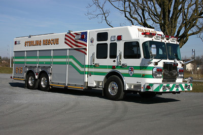 Rescue 615's Officer side.  A photograph from this photo session of Sterling's R-615 appeared in the July/August 2010 edition of Fire Apparatus Journal.