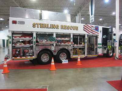 Rescue 615 as displayed at the 2011 Fire & EMS Expo in Chantilly, Virginia - December, 2011.  Officer side.