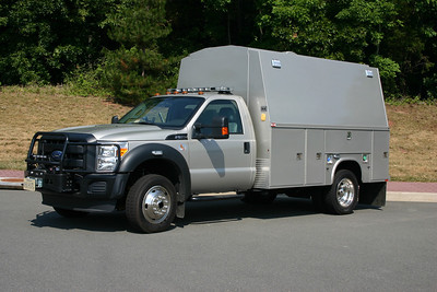 A second bomb disposal truck is BD 660, a 2011 Ford F550 with a Knapheide body.  Like the larger Spartan/Rosenbauer's, six of these trucks were delivered to departments throughout the Washington Metropolitan D.C. area.  Bomb Disposal 660 will remain with no markings on the truck.