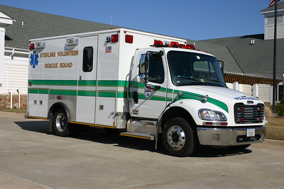 Photographed just after delivery, former 25-1 is a 2005 Freightliner M2/Medic Master.