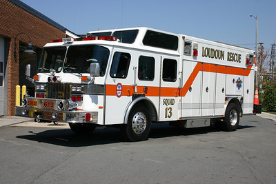 The 2009 Pierce Lance replaced Squad 13, a 1992 E-One Cyclone heavy squad.  The E-One was sold to Epworth, Alabama.