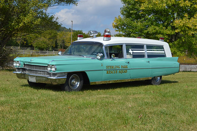 "To celebrate the 50th anniversary of the Sterling Volunteer Rescue Squad, a ""top secret"" restoration occurred that was known by a small group of department members.  Shortly after the Sterling Park Rescue Squad was established, they purchased a 1963 Cadillac/Miller Meteor ambulance from the McLean Volunteer Fire Department in Fairfax County.  In 2013, efforts were made to locate the old Cadillac however they were unsuccessful.  A 1963 Cadillac/Miller Meteor was found in another part of the country in a junk yard.  During 2013, the Cadillac was towed to Keplinger Repair in Winchester, Virginia and a complete restoration begun to make the Cadillac exactly as it looked while in service in Sterling Park."