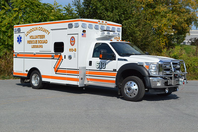 This 2016 Ford F550/Braun for 613B is the department's second Braun ambulance.  Note the sliding entry/exit door to the ambulance body.