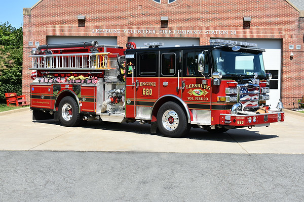 An officer side view of Engine 620, a 2016 Pierce Enforcer.