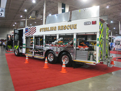 Rescue 615 as displayed at the 2011 Fire & EMS Expo in Chantilly, Virginia - December, 2011.  Driver side.