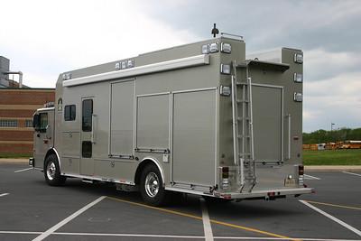 Rear view of the Loudoun County bomb disposal unit.
