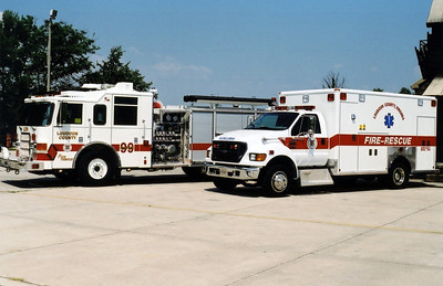 The Training Center's apparatus roster was greatly enhanced with the addition of Engine 99 and Ambulance 99.