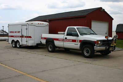 Training Academy utility towing the Mobile Air trailer.