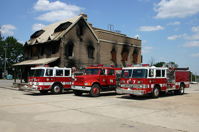 August of 2006 - the old burn house and old Training Center engines - Engine's 96, 97, and 98.