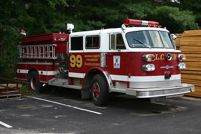"Loudoun County's original Training Engine is still in the Leesburg area.  Engine 99 is a 1981 American LaFrance that was originally delivered to the FDNY where it ran as Engine 250.  In 1990, FDNY sold the engine to the J.C. Moore Company, who rehabed it and eventually sold it to Loudoun County to be used as a Training Center engine - ""Engine 99"".  After service at the Training Center, Engine 99 was donated in 2006 to the Monroe Tech High School in Leesburg."