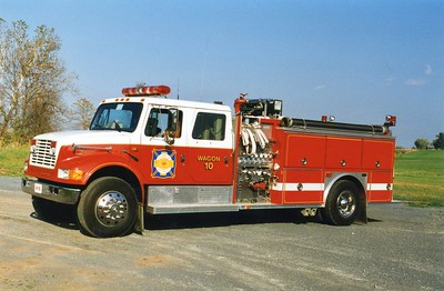 Former Wagon 10, a 1991 International/E-One, 1250/1000, sn- 9578.  Given to the Training Academy and became Engine 592.