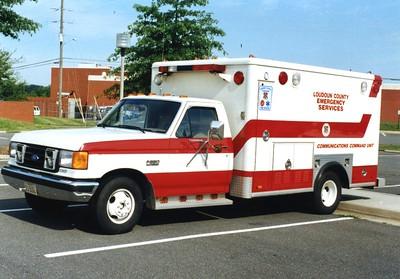 Loudoun's former Command Unit, a former Leesburg VRS ambulance.