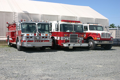 A group photo of the three former Training engines as they were on the way out.