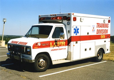 Training Division Ambulance, '99', a 1980's Ford E-350/First Response.