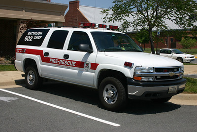 Battalion Chief 602 photographed at Station 20 in Leesburg back in 2006.  It is a 2003 Chevrolet Suburban outfitted by P&L Custom.