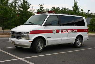 A Chevy Astro support unit found at the Training Academy.