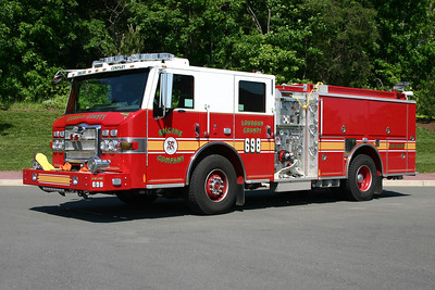 Engine 698 was originally a county wide reserve engine and is a 2010 Pierce Impel  1500/750.  It is now Engine 526B in Loudoun Heights.