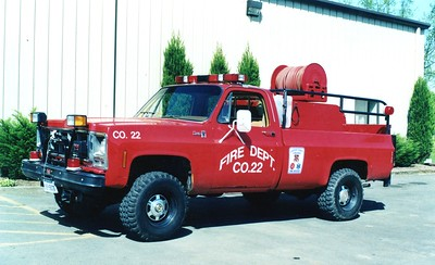 The Xerox Corporation used to operate a fire brigade in the Ashburn/Landsdowne area.  Brush 22 was a 1979 GMC Sierra 25 pick-up.  This truck became a utility type vehicle when the fire brigade was shut down.