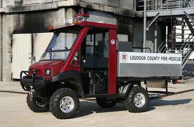 This is UTV 687.  UTV means Utility Task Vehicle.  UTV 687 is a 2012 Kawasaki with the capability of carrying a stretcher in the back.  Although photographed at the Training Center, it will probably be kept at a Loudoun County station and provide support at large crowd events.
