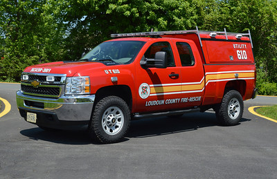 LCFR placed a utility truck at Station 10 to help with towing boats and other emergencies.  Utility 610 is a 2013 Chevrolet.