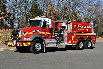 One of two 2016 Mack Granite/Pierce 1500/3000 tanker delivered to Loudoun County in November of 2016.  This is Tanker 610 for Lucketts.  It carries Pierce job number 29709-02.  The other tanker was delivered to Tanker 604 in Round Hill.