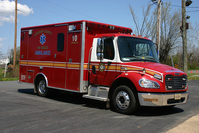 Ambulance 610 in Lucketts once ran this county purchased 2005 Freightliner M2/2006 Medic Master.  It was re-assigned to Station 23 in Ashburn-Moorefield and later disposed of.