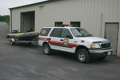 Command 610 is a 2000 Ford Expedition.  Used to tow a swift water boat.