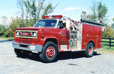 Former Engine 10 was this 1986 Chevrolet/EEI, 1000/500, sn- 8493.    Sold in 2005 to a farmer in Lucketts.