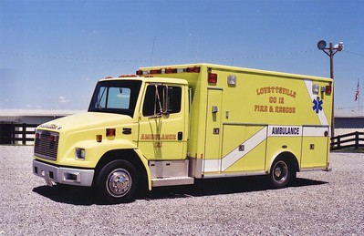 Former Ambulance 12-1, a 1994 Freightliner 60/E-One.  Sold to Reva, Virginia in 2002.