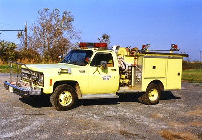 Former Brush 10, a 1980 Chevy Custom Deluxe/Pierce, 400/250.  ex - Lovettsville, Virginia (Loudoun County).  Now privately owned.