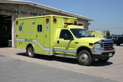 Ambulance 612-1 is a 2001 Ford F450/Horton that was replaced by a newer Ford.  Sold to the Ryneal Medical Transport company in West Virginia.