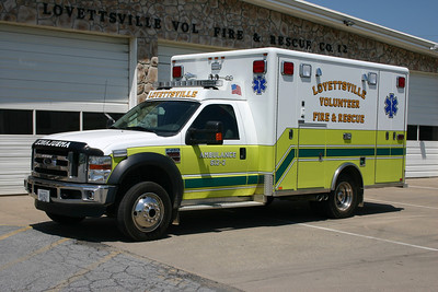 Ambulance 612-2 is a 2009 Ford F450 built by Horton.