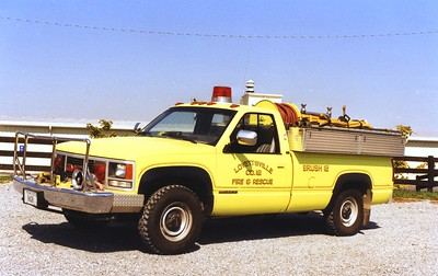 Former Brush 12, a 1989 GMC 3500/4-Guys, 200/200.  Sold to Six Mile Run, Pennsylvania, in 2003.