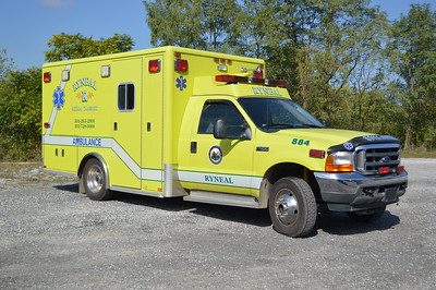 Ryneal Medical Transport in Martinsburg, West Virginia operates this 2001 Ford F450/Horton that was originally delivered to Lovettsville, VA in Loudoun County.  Ryneal received the ambulance in 2015.