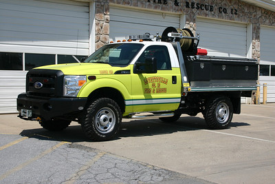 The new Brush 612 was placed into service in 2010 and replaced the departments older Kaiser Jeep (affectionately known as Elizabeth).  In fact, a variety of the equipment from the Kaiser (including pump and tank) came from the Kaiser.
