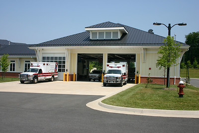 The Purcellville Volunteer Rescue Squad, Station 14, shares a station with the Purcellville Volunteer Fire Department.  This is Station 14's side of the facility.