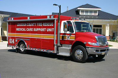 A variety of fire and rescue departments across the metropolitan D.C. area received Medical Care Support Units by a federal grant.  Loudoun County's MCSU 614 is housed at the Purcellville Volunteer Rescue Squad.  It is a 2011 International 4400 with a body built by Hackney.
