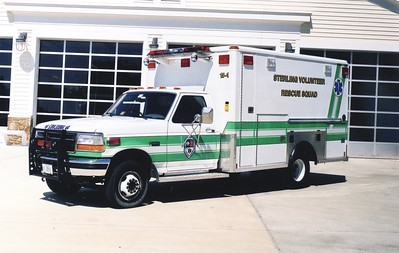 Former '15-1', a 1996 Ford F Super Duty/1991 Wheeled Coach.  Rehab following an accident in 1995.