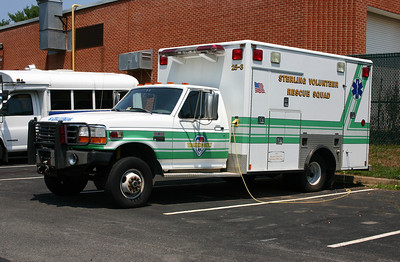 Former Ambulance 25-3 from Sterling Rescue was donated to Monroe Tech High School in Leesburg.