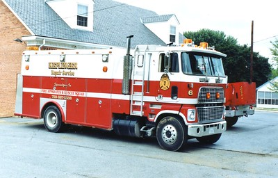 Keplinger Repair Service's former '6', a 1981 Ford/1975 Swab.  Former Sterling Rescue Squad (Loudoun County), Virginia.